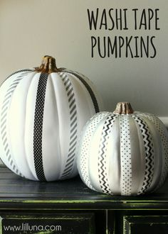 Adorable Washi Tape Pumpkins