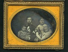 an unidentified soldier, who left this image of himself, a woman and two children with Mrs. Lee of Corinth, Mississippi, on the eve of the battle of Shiloh. The soldier never reclaimed his image and was presumed to have been killed in battle. Captain American, American Civil War, Early American, Battle Of Shiloh, Mystery Photos, History Magazine, War Image, Civil War Photos, Civilization