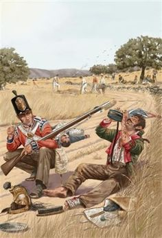 British during the Peninsular War. Military Weapons, Military Art, Military History, Military Uniforms, British Army Uniform, British Uniforms, Men In Uniform, Independence War, Empire