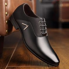 OSCO Men Dress Shoes Men Formal Shoes Leather Luxury Fashion Wedding S - chicmaxonline Business Shoes, Business Casual Men, Men Casual, Business Formal, Men's Wedding Shoes, Bridal Shoes, Mens Fashion Shoes, Shoes Men, Dress Fashion