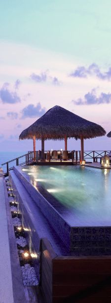 Arrive on a private speedboat to the exclusive Taj Exotica Resort & Spa in the #Maldives.