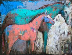 Abstract Horse Painting, Watercolor Horse, Abstract Animals, Abstract Art, Horse Artwork, Cow Art, Horse Drawings, Animal Paintings, Horse Paintings