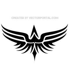 ideas tattoo bird tribal wings for 2019 Tribal Tattoos, Elephant Tattoos, Origami Tattoo, Tribal Wings, Tribal Art, Leather Carving, Full Tattoo, Geniale Tattoos, Airbrush Tattoo