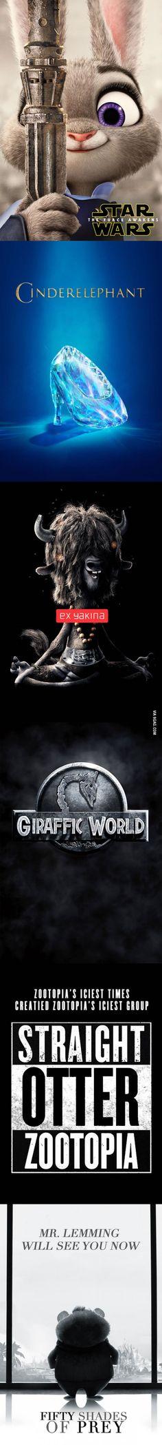 'Zootopia' Official Spoof Posters https://www.wish.com/merchant/hiidea