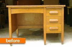 Before & After: Old-School Desk Gets a Makeover — Storywood Designs | Apartment Therapy