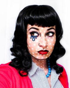Halloween Makeup #popart Costume .... My sister. Designer and Owner of Objects and Subjects.