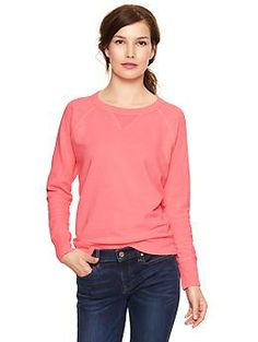 Terry sweatshirt at The Gap  Medium Tall    want every color