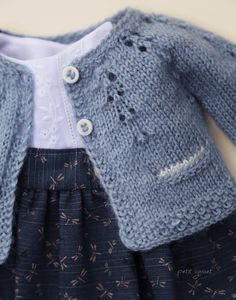 Best 12 Baby Emily Knitting pattern by Stella Ackroyd – SkillOfKing. Baby Cardigan Knitting Pattern, Baby Knitting Patterns, Knitted Baby Cardigan, Doll Clothes Patterns, Clothing Patterns, Doll Patterns, Knitted Dolls, Crochet Dolls, Baby Sweaters