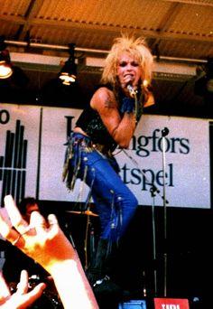 Rock´n roll photos: Michael Monroe 1986 @ Kaivari