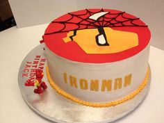 Spiderman & Iron Man Birthday Cake  Photo Gallery - Peace, Cake and Happiness http://pchcake.weebly.com