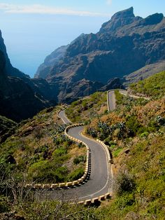 the roads of Tenerife, Canary Islands.