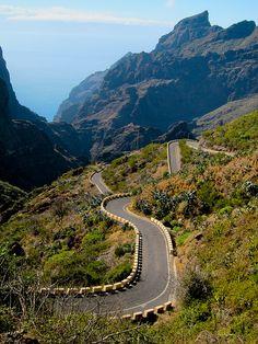 the roads of Tenerife, Canary Islands.
