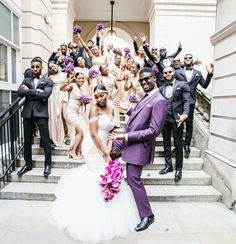 Cassandra and Karl Lokko locked it down on their wedding day! The twosome are so… – Best Wedding Days Wedding Goals, Wedding Pics, Wedding Attire, Wedding Dresses, Party Dresses, Purple Wedding, Wedding Colors, Dream Wedding, Wedding Day