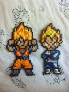 Goku and Vegeta perler beads by Dat-Boi-T on  deviantART