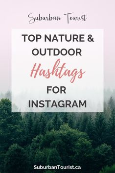 Nature and Outdoor Hashtags for Instagram | Suburban Tourist Best Instagram Hashtags, Instagram Popular, Instagram Marketing Tips, Nature Blogs, Photography Hashtags, Photography Tips, Best Landscape Photography, Hiking Quotes, Popular Hashtags