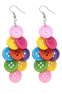 Button Earrings. I have a daughter who would love these!