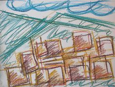 Japanese city #art #pastels #drawing #city #japan #abstract #spring