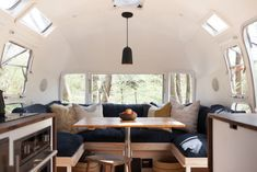 modern caravan vintage airstream renovation dining
