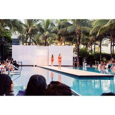 #Gorgeous models #wearing #heidiklein for the @isatapia #fashion show last night #miamiswimweek #wearingheidiklein #wcfda #wetdeck #swimwear #miami #red #bikini #potd #instadaily