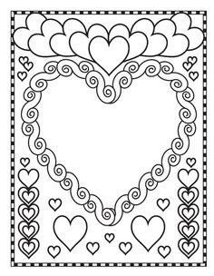Coloriage De Saint Valentin #1
