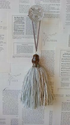 Decorative owl tassel by DecorologyShop on Etsy, $11.00