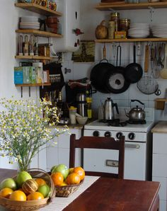cosy kitchen, simple and lovely feel Cosy Kitchen, Red Kitchen, Kitchen Interior, Kitchen Dining, Kitchen Decor, Sweet Home, Japanese Kitchen, Cottage Kitchens, Inspired Homes