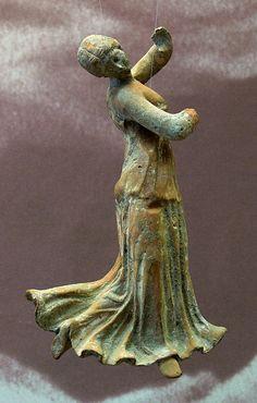 Dancer, Hellenistic statuette (bronze), 2nd century BC, (Museum zu Allerheiligen, Schaffhausen).