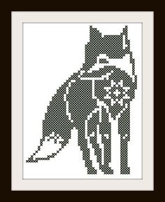 Here's more! Recently, two foxes have been visiting  our property here in rural, Southern Illinois. I've been inspired and the new patterns prove it! Enjoy! Bliss of Birds PDF Cross Stitch Pattern: Curious by BlissOfBirds