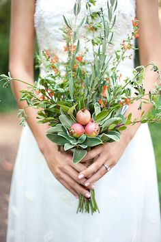 Mix bright fruit and flowers for a fresh bouquet twist