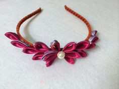 DIY Ribbon Kanzashi Flower Headband