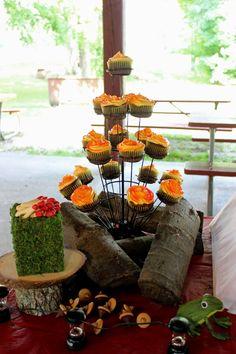 boy's camping party cupcakes www.spaceshipsandlaserbeams.com