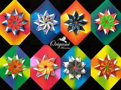 Origami Quilt, Origami Cat, Origami Artist, Kids Origami, Origami And Kirigami, Modular Origami, Easy Origami Star, Origami Stars, Origami Flowers