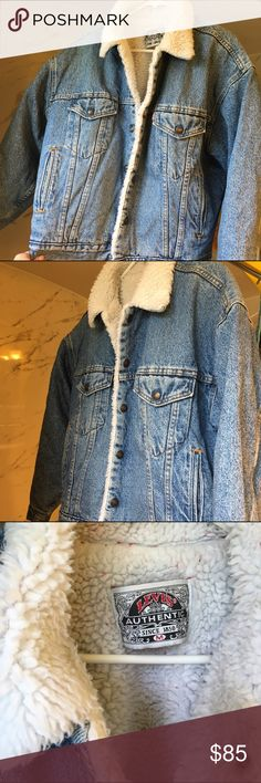 Vintage Levis Sherpa/Fleece Lined Denim Jacket Size men's medium - heavy weight, in great condition! Sadly it's too big for me Levi's Jackets & Coats Jean Jackets