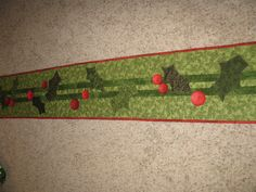 Christmas runner with buttons