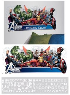 Avengers Assemble Headboard Giant Wall Decal  - Wall Sticker Outlet