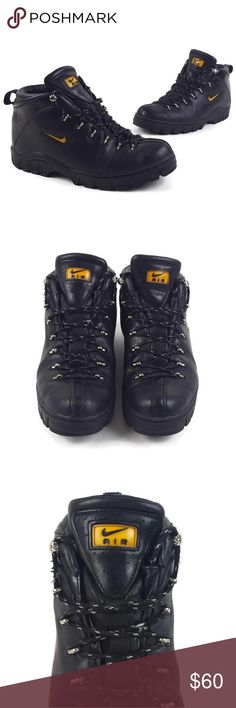 pretty nice 786ac 9033a Vintage 90s Nike Air ACG Black Leather Work Boots Excellent Used Condition!  Men s Size 11