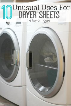 Blog post at The Taylor House : 10 Unusual Uses for Dryer Sheets