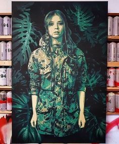 'Olivia' by @tankpetrol contact him for commissions ##spraypaintart #acrylicpainting #independentartist #artofinstagram #artsandcrafts #artstagram #artistsoninstagram #artworks #portrait #portraitpainting #mcrartist #manchesterart #instart #instaartist #supportart #supportartists #camo #camoflauge #artoninstagram #unknown #embracetheunknown #theunknownemporium #tue #paintingaday