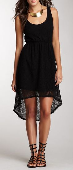 Lace Hi-Lo Dress, except some color other than black...
