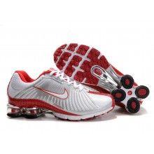 Nike Shox R4 grey red