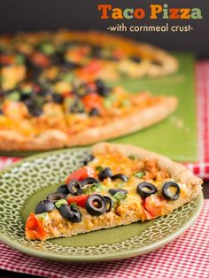This irresistible Taco Pizza has an easy cornmeal crust that requires no rising time! (Sponsored by Fleischmann's Yeast)