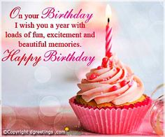 Find ideal and best happy birthday wishes, quotes and images for your loved ones. We have the best collection of wishes & quotes you can write in a birthday card. Happy Birthday Wishes Quotes, Birthday Wishes And Images, Happy Birthday Friend, Happy Birthday Girls, Happy Birthday Pictures, Birthday Blessings, Happy 1st Birthdays, Birthday Love, Happy Birthday Greetings