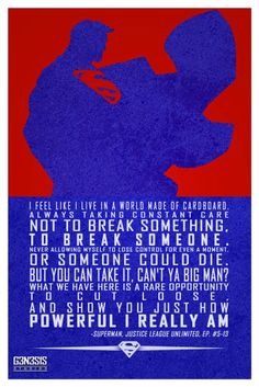 Superman quote from g3n3s1s studios