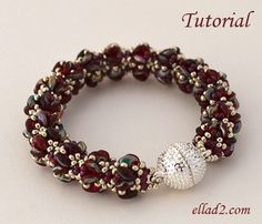 Merlot Bracelet is another easy and quick beading project for you. Beading instruction is very detailed, step by step with photos of each step.