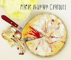 Recipe Redux Maple Rhubarb Clafouti – by Emma Stirling APD