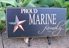 Proud Marine Family Handmade Painted Sign by SimplySaidSayings, $9.00