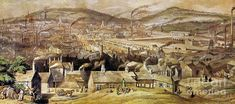 View of the Town of Sheffield from the South East, William Ibbitt, 1854