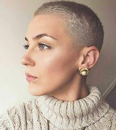 Cool Short hair styles: Photo There is Somthing special about women with Short hair styles. I'm a big fan of Pixie cuts and buzzed cuts. Enjoy the many different styles. Really Short Hair, Short Grey Hair, Short Hair Updo, Short Hair Cuts, Short Hair Styles, Pixie Cuts, Updo Hairstyle, Short Buzzed Hair, Blonde Short Hair Pixie
