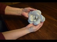 burlap flowers tutorial - YouTube