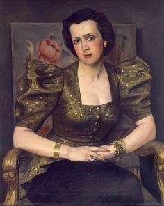 Portrait M. 1943 by Yiannis Moralis (Greek Female Portrait, Female Art, Greece Painting, Alexander The Great, Greek Art, Portrait Inspiration, Conceptual Art, Woman Painting, Texture Painting
